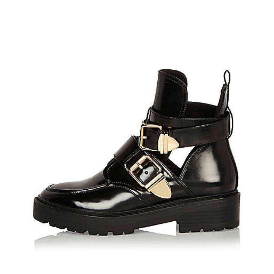 Boots en cuir vernis