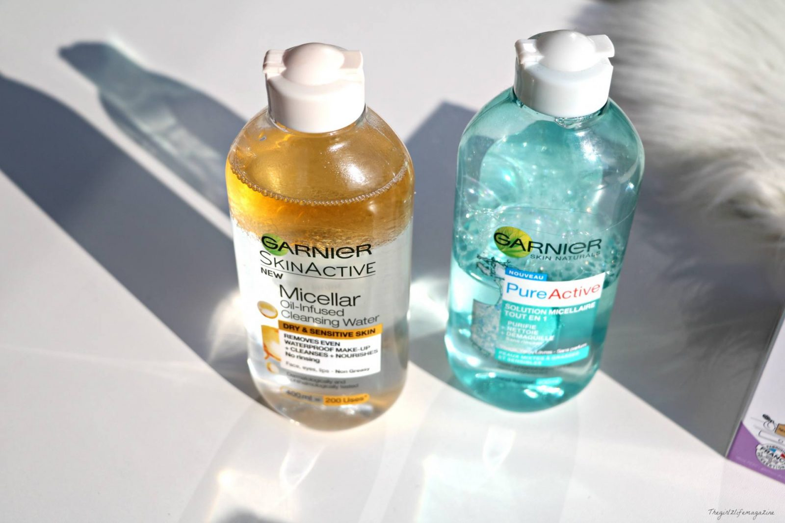 Skinactive ou Pure active de  Garnier: Laquelle des eaux micellaires choisir?